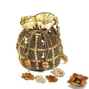 Multicolor Cystal studded Dry fruit Pouch and Diwali Hamper_DMB20