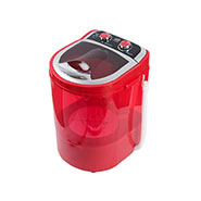 DMR 30-1208 Single Tub 3Kg Mini Washing Machine With Spin Basket - Red