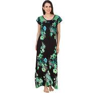 Fasense Shinker Cotton Floral Print Long Nighty -DP180B2