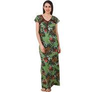 Fasense Shinker Cotton Floral Print Long Nighty -DP188B2