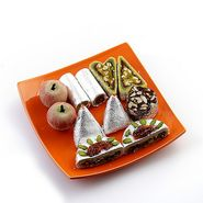 Assorted Kajoo Sweets with Free Laxmi Ganesh Coin_DRM1424