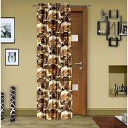 Story @ Home Brown 1 pc Digital Print Door curtain-7 feet-DRT1104