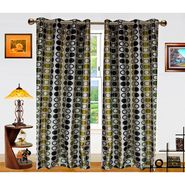 Dekor World Circle Bonanza Window Curtain- Set Of 2 -DWCT-461-5
