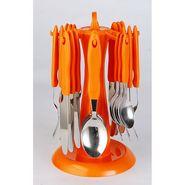 Elegante Signature Orange Look Cutlery Set - 24 Pcs With Stand ESORGCS024
