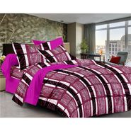 Ahem Homes Cotton  Double Bedsheet  With 2 Pillow Cover-EX1203