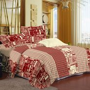 Storyathome Cotton Red 1 Double Bedsheet With 2 Pillow Cover-FE1105