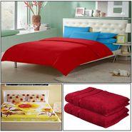 Storyathome 8 Pcs Combo Of Premium Quality Cotton Double Bedsheet, 3D Print Double Bedsheet And Cotton Bath Towels-FS_1210-PC1410-TW_2-1215-X