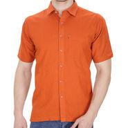 Fizzaro Plain Linen Casual Shirt For Men_Fzls101 - Orange