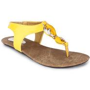 Do Bhai Patent Flats Flat-S23-Yellow