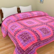 GRJ India Designer Printed Double Bed Quilt-GRJ-DQ-144
