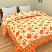 GRJ India Designer Printed Single Bed Quilt-GRJ-SQ-149