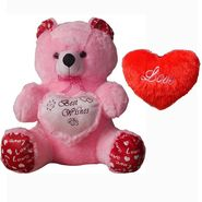Valentine Combo of 5 Feet Teddy & Soft Toy Heart - Pink