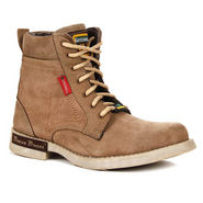 Green Hill Camel color High Ankle Length Boots - Genuine Leather