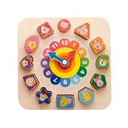 Cartoons with Number Building Blocks Wear Line Digital Clock Educational Game