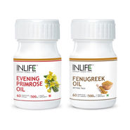 INLIFE Women's Health Combo Pack Of Evening Primrose & Fenugreek Seed OilCaps