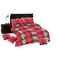 Paras Fashions Bedding Set of 6 pcs (1Bedsheet + 2 Pillow Cover + 3 Cushion Cover)-IPFDBS1179