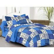 IWS Cotton Printed Double Bedsheet with 2 Pillow Covers-IWS-CB-1261