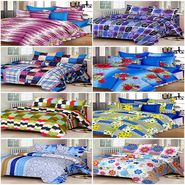 Set of 8 IWS Cotton Printed Double Bedsheet with 16 Pillow Covers