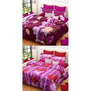 Set of 2 Printed  Double Bedhseets With 4 Pillow Covers-IWS-NPrinted-26