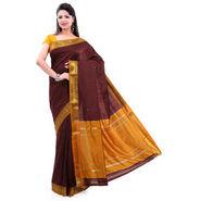 Ishin Poly Silk Paithani Saree (Brown) - STCS-22