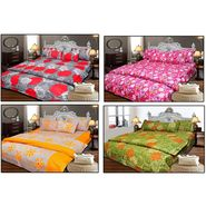 Set of 4 Designer Cotton Double Bedsheet with 8 Pillow covers - JBG_Combo2