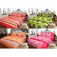 Set of 4 Designer Cotton Double Bedsheet with 8 Pillow covers - JBG_Combo4