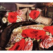 Valtellina New Fashioned  flower with Gardenry Print Double Bed Sheet-JF-021