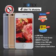 JeoTex 4 SIM TV Mobile
