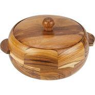 Kvg Wooden Casserole, 1900 Ml, Round, Dark-Brown