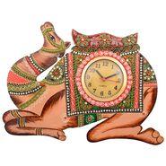 Wooden Papier Mache Camel Wall Clock-KWC552