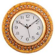 Wooden Papier Mache Elegant Wall Clock-KWC560
