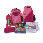 Kids School 17inch Bagpack Combo Girls Pink - CB-1404