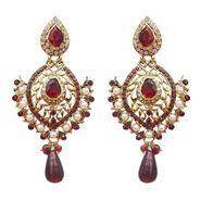 Kriaa Austrian Stone Earrings - Brown _ 1300207