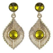 Kriaa Austrain Diamond Yellow Earrings - Yellow _ 1301421