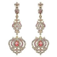Kriaa Austrian Stone Earrings - Pink _ 1301429