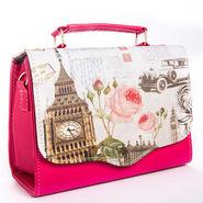 Arisha Leather  Handbags LB168 -Pink