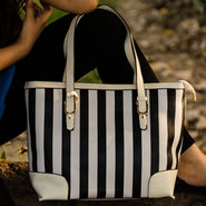 Arisha Black & White Handbag -LB 395