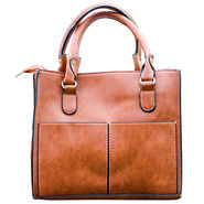 Sai Arisha PU Brown Handbag -LB679