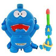 Holi Water Pichkari Back Pack Cartoon Tank Squirter F48 - Blue