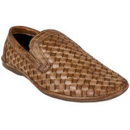 Yellow Tree Synthetic Leather Casual Shoes Leefox-Brown