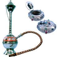 Combo of Little India Colorful Meenakari Hukka + Ash Tray