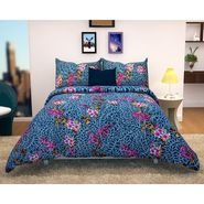 Storyathome 100% Cotton Double Bedsheet With 2 Pillow Cover-MG1476