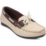 Meriggiare Artificial Leather Beige Loafers -Mgfc1508E