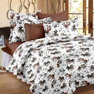 Storyathome 100% Cotton Double Bedsheet With 2 Pillow Cover-MP1206