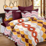 Storyathome 100% Cotton Double Bedsheet With 2 Pillow Cover-MP1218