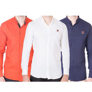 Cliths Pack of 3 Cotton Shirts For Men_Md084
