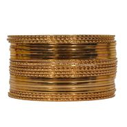 Pack of 24 Pourni Bangles Set_PRBG15 - Golden