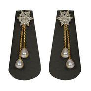 Pourni Stylish Brass Earring_Prer07 - Golden