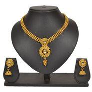 Pourni Stylish Brass Necklace Set_Prnk52 - Golden