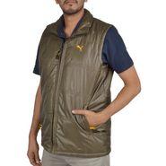 Branded Sleeveless Bomber Jacket (Polyester) For Men _PUMA-GREEN -  Green